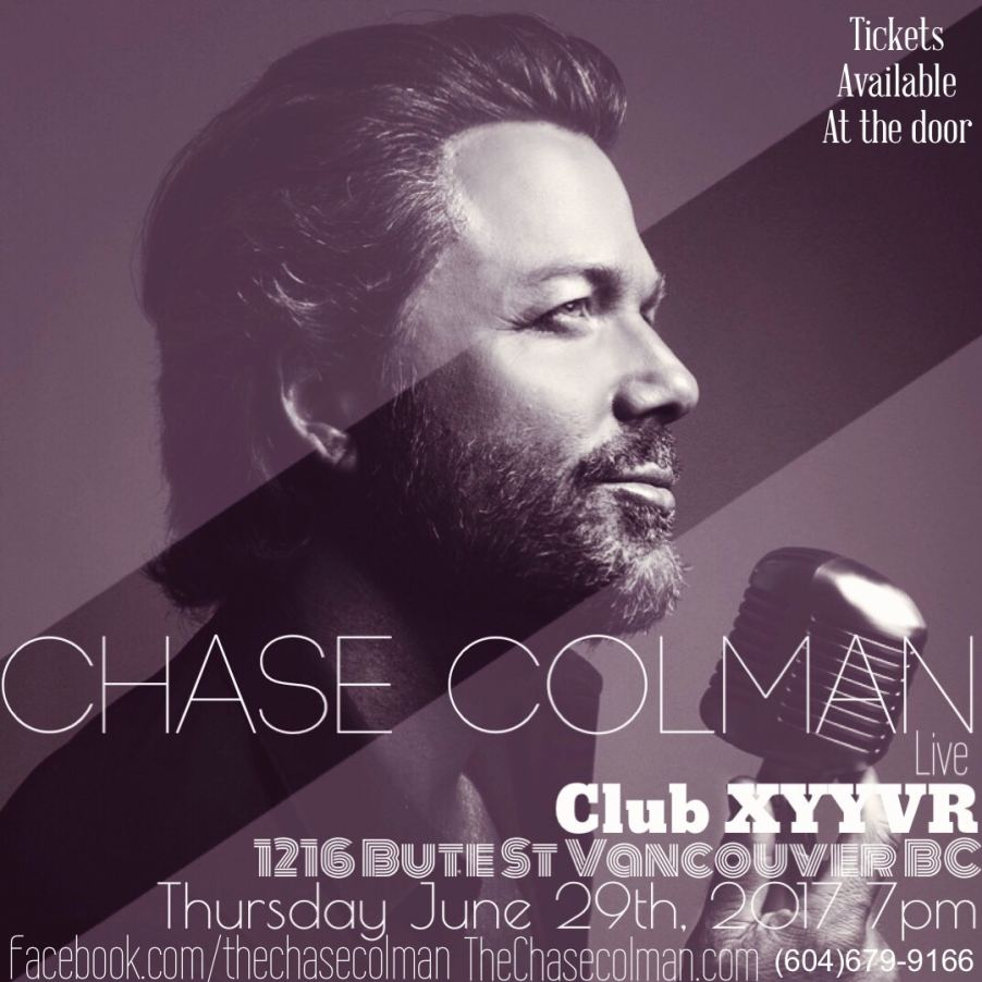 Cool Daddy Chase Colman Performs June 29 @XYYVR