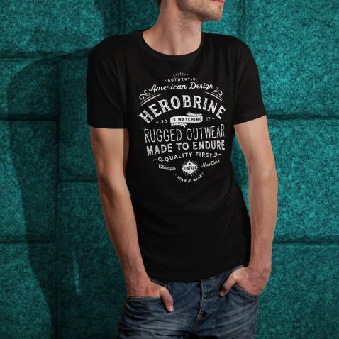 Herobrine is Watching American Vintage T-Shirt