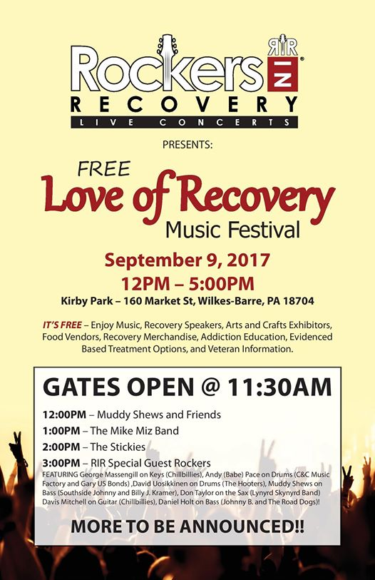 Love of Recovery (Wilkes-Barre, PA.) – Free Music Festival
