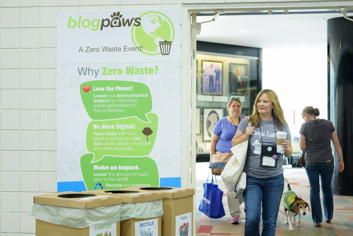 BlogPaws Conference 2017 Zero Waste Initiative