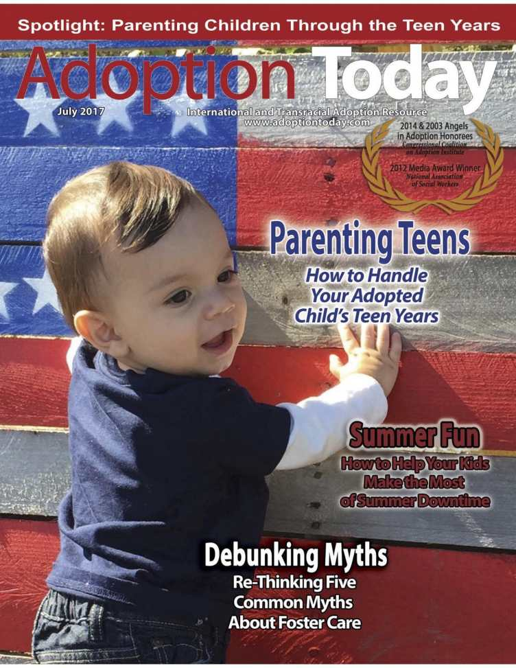 The cover of Adoption Today's July 2017 issue