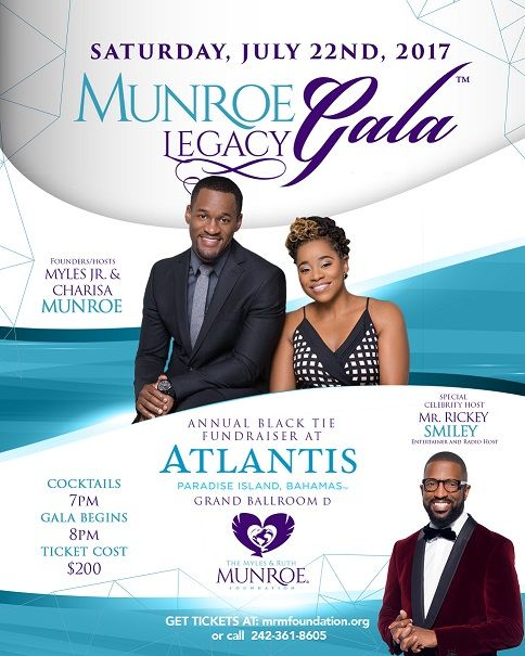Founders Myles Jr. and Charisa present Gala with Celebrity Host Rickey Smiley