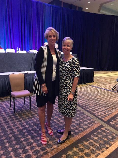 Tammy Filipiak (L), Dr. Elizabeth Rydell, Chief Dental Officer (R)