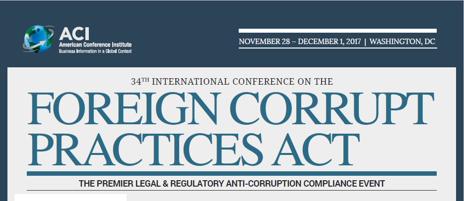 34th International Conference on the Foreign Corrupt Practices Act