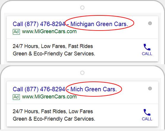 Google AdWords - Abbreviate Ad Text