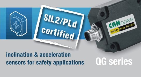 SIL2/PLd compliant QG series of sensors