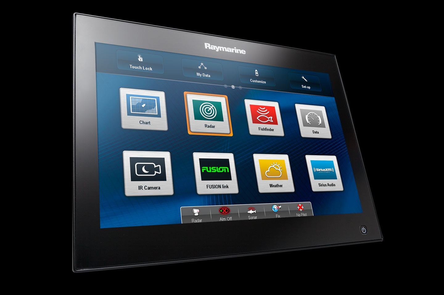Raymarine MFD Screen for maritime