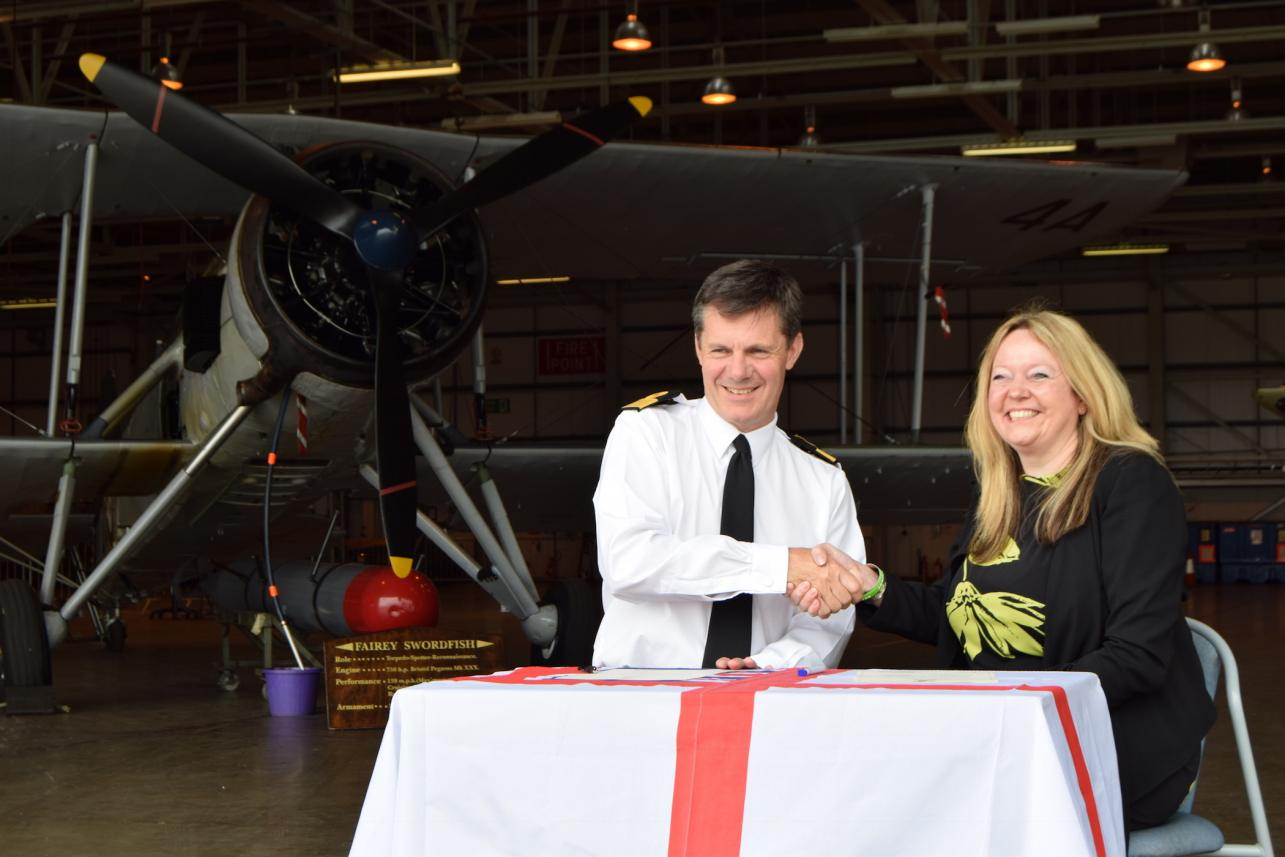 RNAS Yeovilton Armed Forces Covenant Becky Wright .