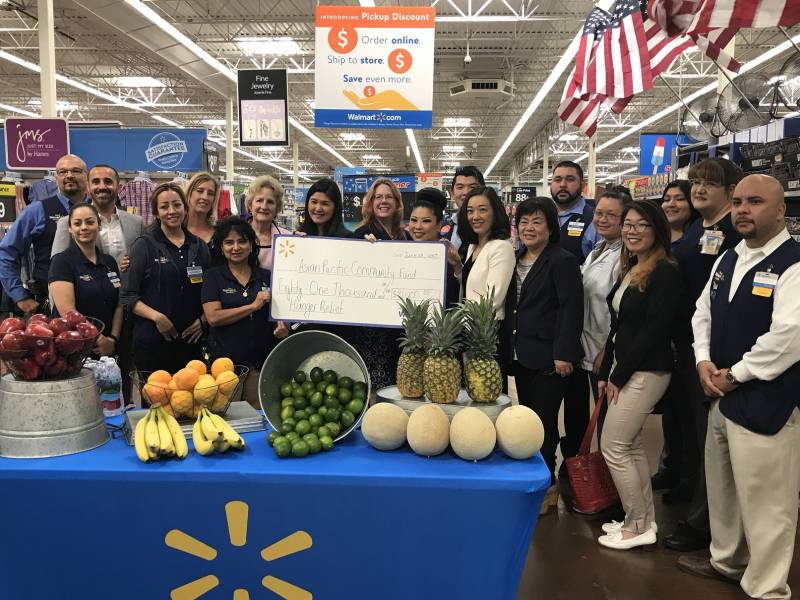 Walmart Check Presentation to AYC, KYCC, and KFAM for Hunger Relief