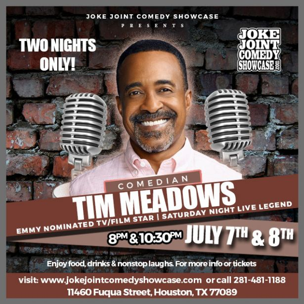 Tim Meadows comedy show flyer