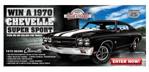The winner will receive a fully restored 1970 SS396 Chevy Chevelle.