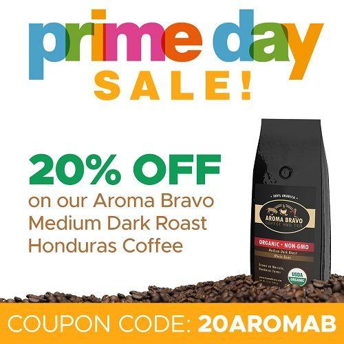 Medium dark roast gourmet coffee beans by Aroma Bravo
