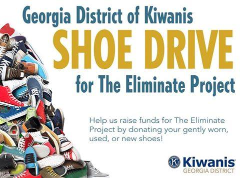 Help us raise funds for The Eliminate Project through the donation of shoes!