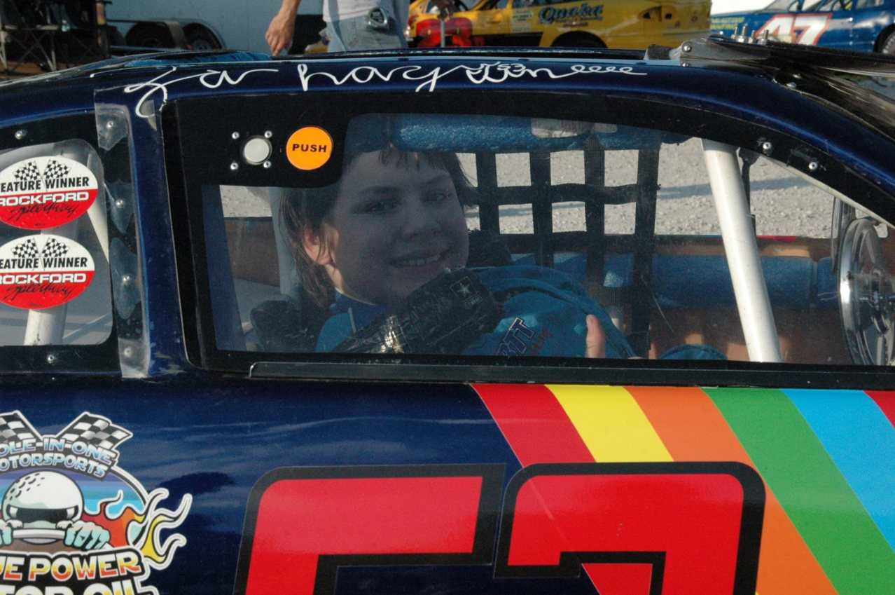 Zachary Tinkle in car before race Photo Credit: Kathy Aspeitia