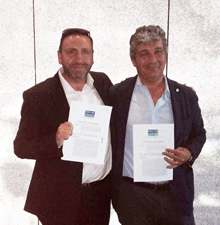 Mr Taylor and Mr Masi Sign Italy Franchise Deal