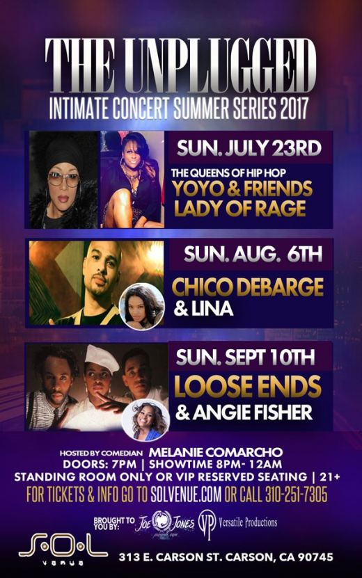 Yo-Yo, Lady of Rage and host Melanie Comarcho