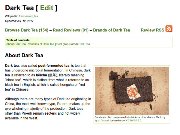 The new dark tea page