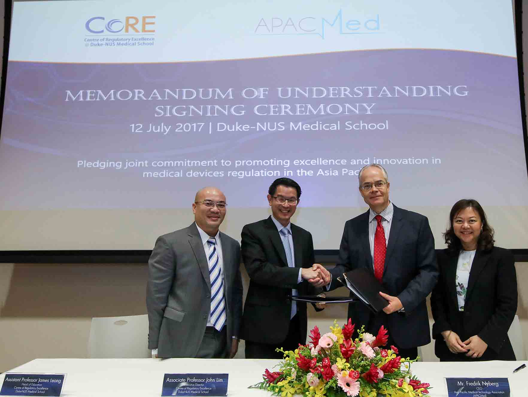 APACMed signs MoU with Duke-NUS CoRE