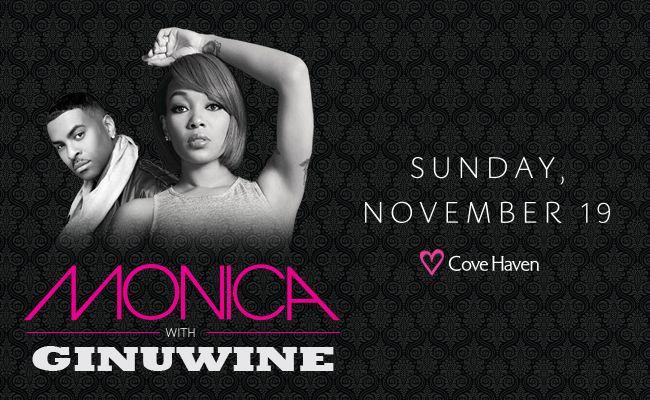 MONICA at Cove Haven Resorts Sunday, Nov. 19!