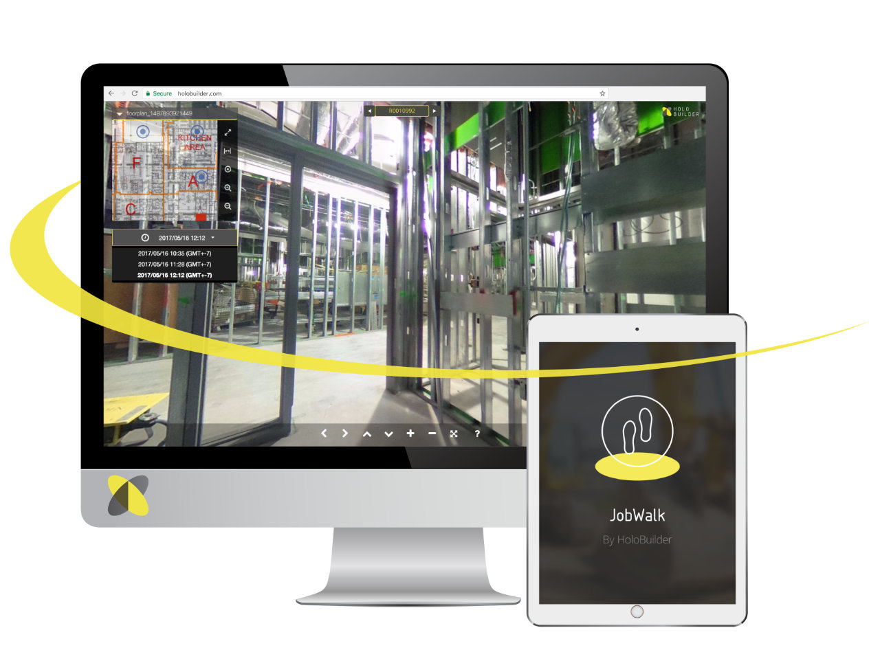 HoloBuilder enables construction teams to capture & share 360° virtual jobwalks