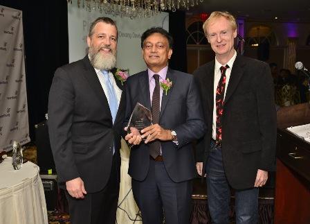 LtoR:  David J. Genter,  Devang M. Davé, MD (honoree) and John Schaefer