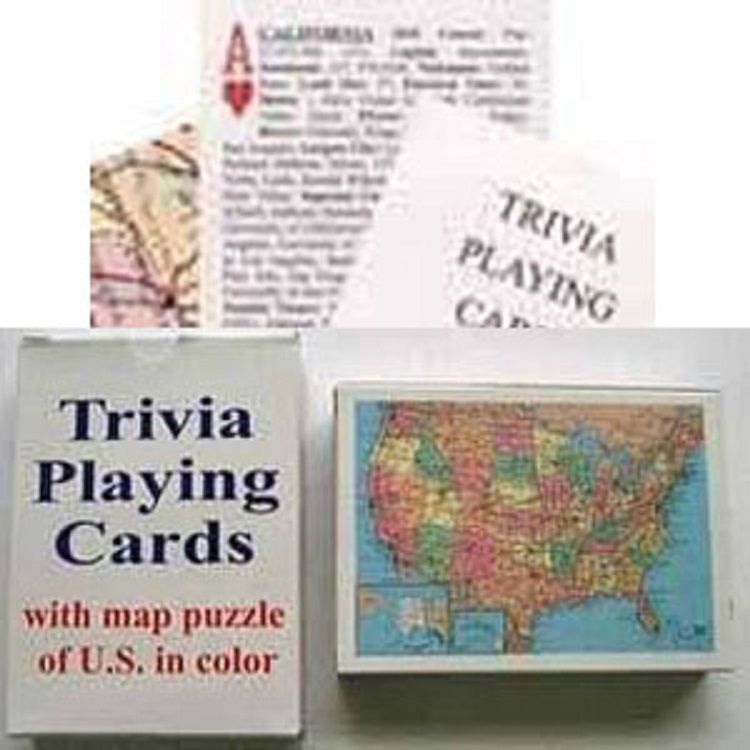Trivia Cards & Map Puzzle