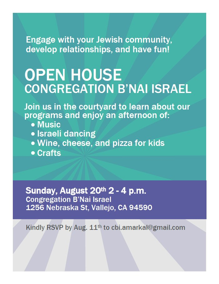 Open House at Vallejo Synagogue
