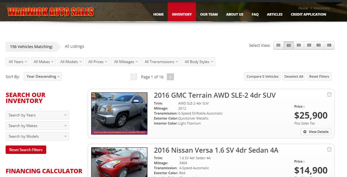 Used Vehicle Inventory Commercial Motor Company In Autos