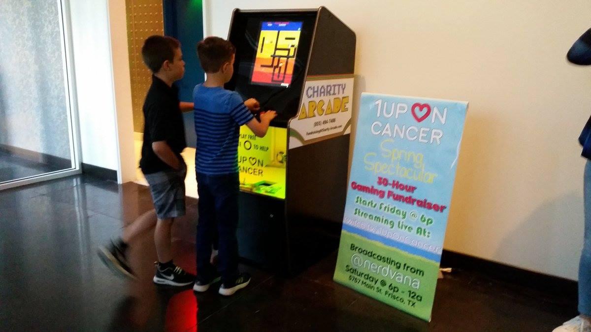 Children taking part in Charity Arcade at Frisco's Nerdvana