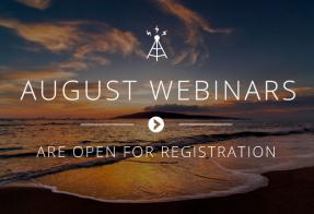 August 2017 Webinars
