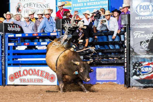 Navajo Nation Bull Riding Sensation Cody Jesus Wins Night