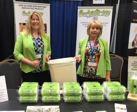 InnovateHER winners Stacey Lokey (left) and Carolyn Caplik of MOM-EEZ LLC