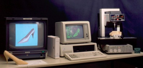 From the old days: our Sipsurf CAD/CAM on an IBM PC/XT.