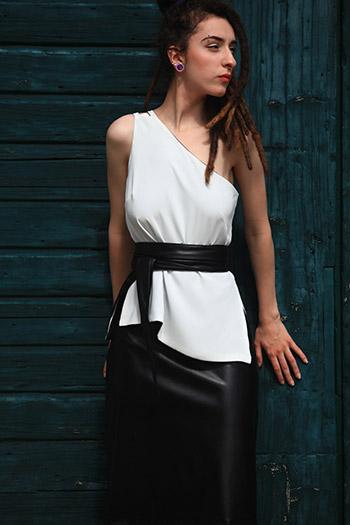 Annaborgia Vegan Leather Skirt and Belt
