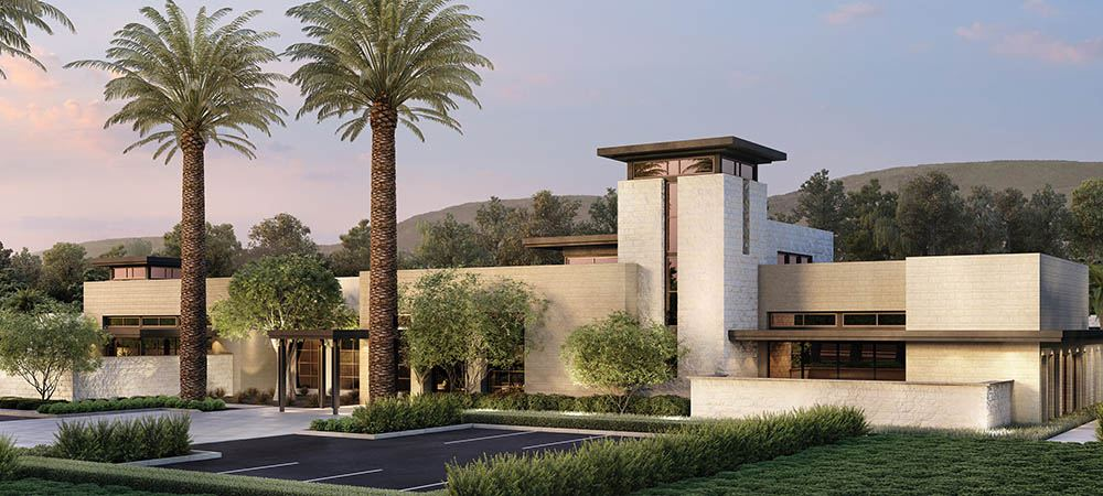 Pictured here is the upscale future clubhouse for Altair Irvine residents.
