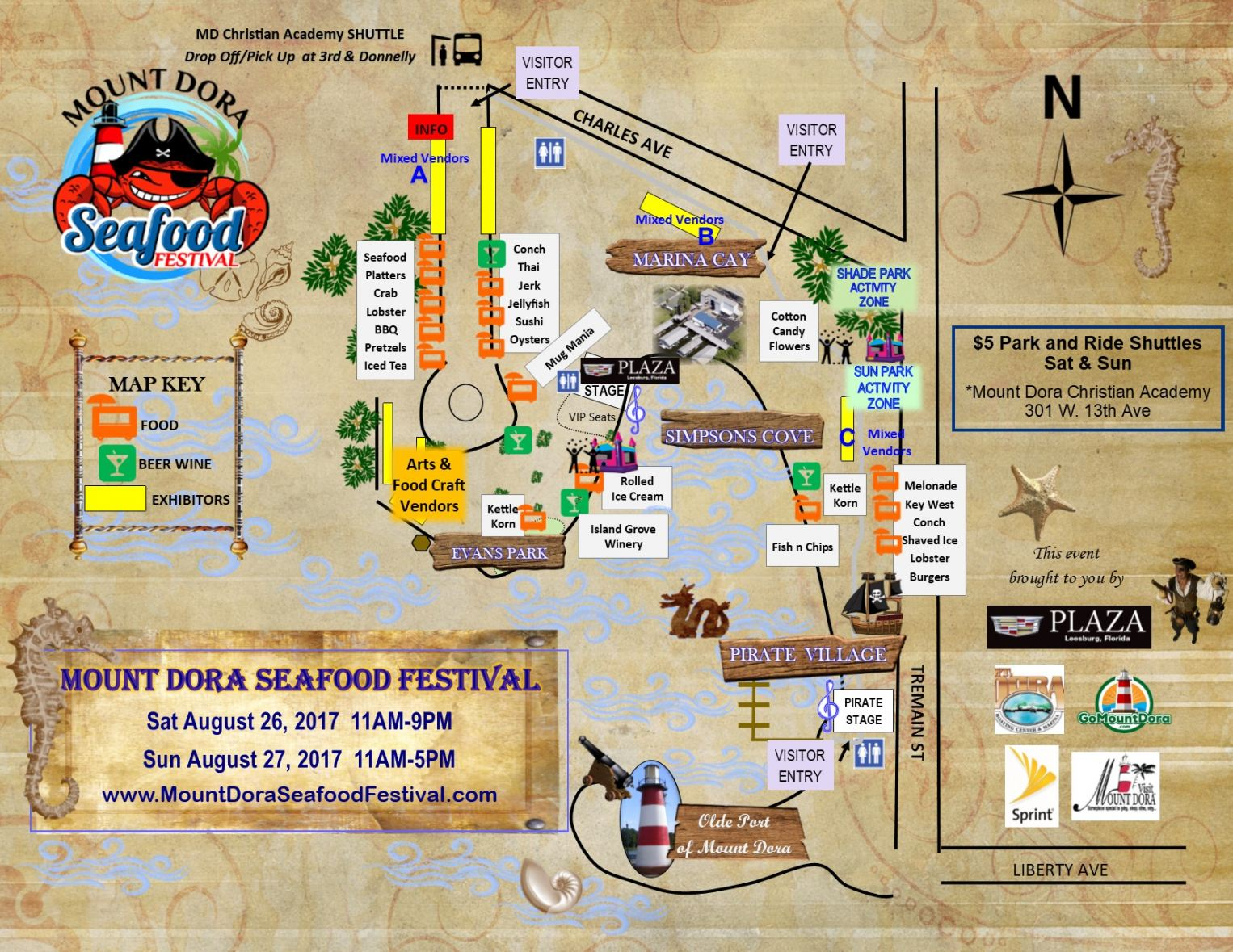 Seafood Festival Visitor Map 2017