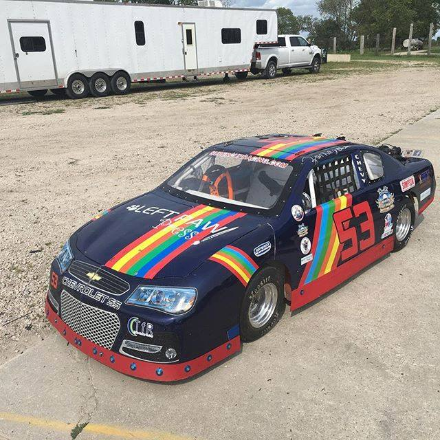 Zachary Tinkle's MiniCup (super cup) car at Grundy County Speedway
