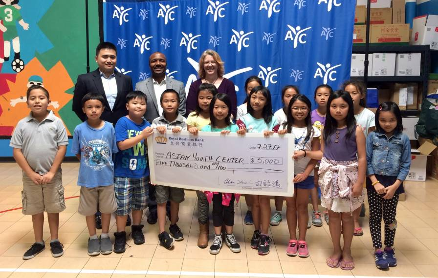 Check presentation to AYC by Yves Mombeleur & Larry Pang of Royal Business Bank