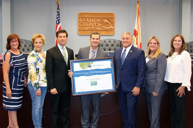 St. Lucie County Certified 'Florida Green' by Florida Green Building Coalition.
