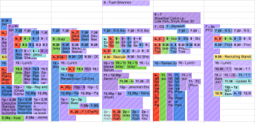 """Calendar Tetris"""