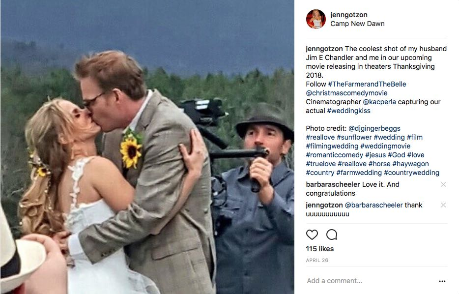 "Actors Got Married on Family Christmas Comedy Movie ""The Farmer and The Belle"""