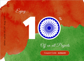 offer onIndependence Day 10% off