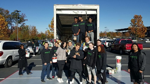 2016-2017 GCB Green Youth Advisory Council Members Help at America Recycles Day