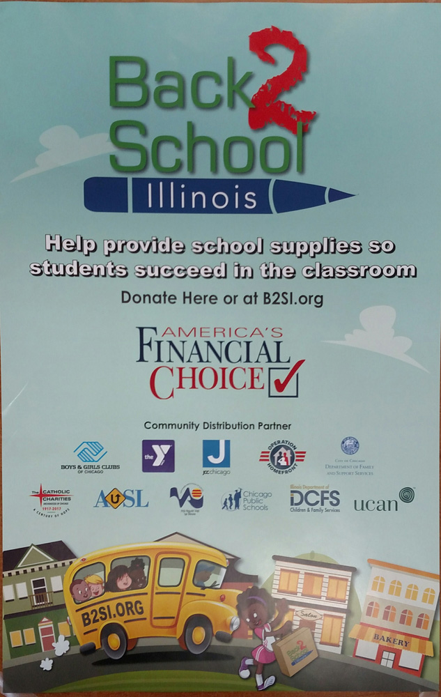 America's Financial Choice Donates to Back 2 School Illinois