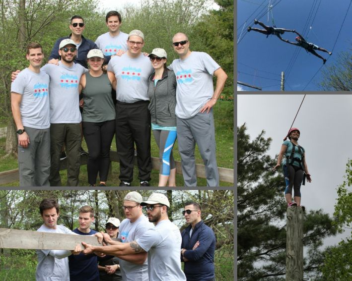 NM Chicago 1872 Leadership Development Program goes to Camp Greyfield