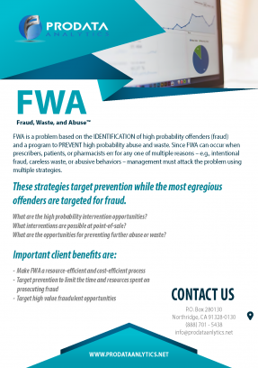 Fraud, Waste & Abuse Management