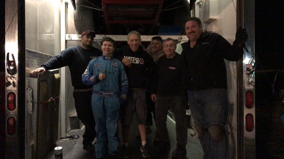 Zachary Tinkle With Lorz Motorsports Team-Grundy County Speedway after 8/25 race