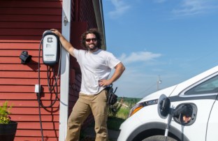 Free electric vehicle charging station in Searsport, Maine