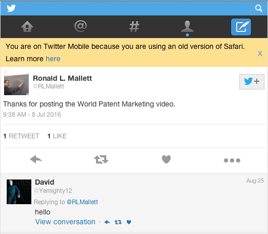 Ronald Mallett tweet: Evidence he directly promoted false advertisement video