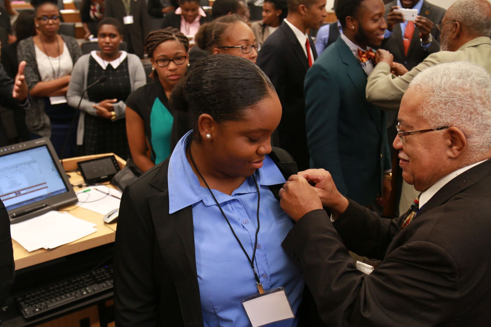 Pre-Law Students Being Pinned